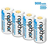 Arlo Batteries - RCR123A 900mAh Rechargeable Lithium-ion Battery [4pack 3.7V] for Arlo Wireless Security Camera (VMC3030/VMK3200/VMS3230/3330/3430/3530) Flashlight, Polaroid, Microphone