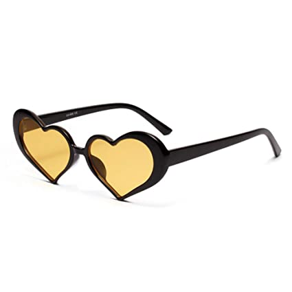 LLLM Gafas de sol Gafas de Sol de corazón Mujeres Lente ...