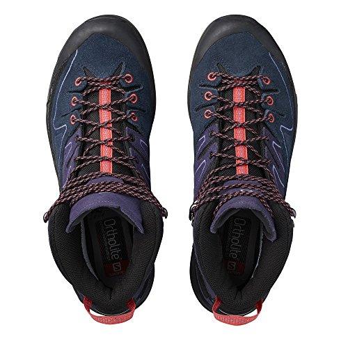 Alp Leather Mid amp; Waterbottle Shoes X Salomon Black GTX Bundle Womens Punch Coral Grey Nightshade wt1xn0I8qE