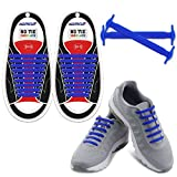Homar Reflective No Lock No Tie Shoelaces With High Performance - Best In No Tie Shoelace Replacement Accessories - Athletic Flat Shoe Laces - Blue | amazon.com