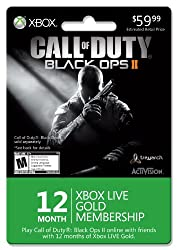 Xbox LIVE 12 Month Gold Membership for Black Ops II [Online Game Code] by Microsoft