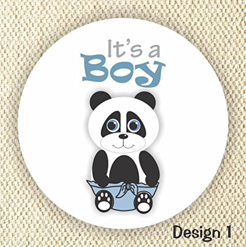 It's a Boy stickers - Baby Shower Favor Stickers - Baby Panda Shower Labels - Set of 40 labels from Philly Art & Crafts