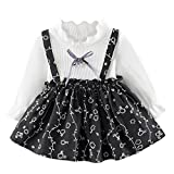 Baby Girls Cute Floral Dresses Newborn Infant Flower Clothes for 0-24 Months Long Sleeve Party Princess Dresses