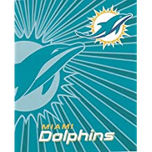 NFL Miami Dolphins Strobe Sherpa Throw, 50 x 60-Inch, Blue