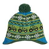 John Deere Boys' Little Winter Hat, Green/Yellow, Toddler