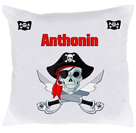 Cojín infantil de pirata personalizado con el nombre de tu ...