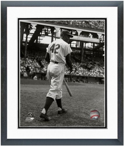 Jackie Robinson Brooklyn Dodgers 1949 Action Photo 12.5