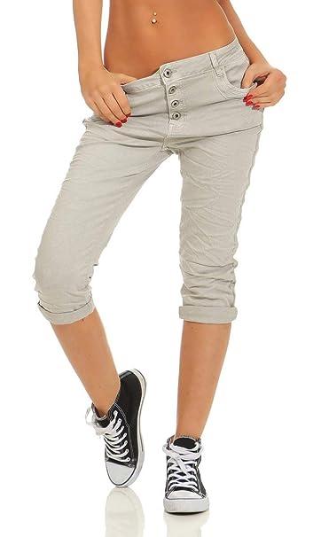 Stretch Slimline Jeans Capri Hose Neue Damen 7//8