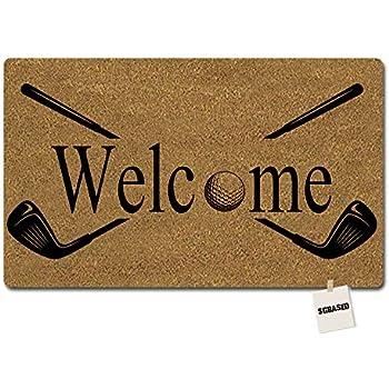 Genial SGBASED Door Mat Funny Doormat Welcome Golf Design Mat Washable Floor  Entrance Outdoor U0026 Indoor Rug Doormat Non Woven Fabric (23.6 X 15.7 Inches)