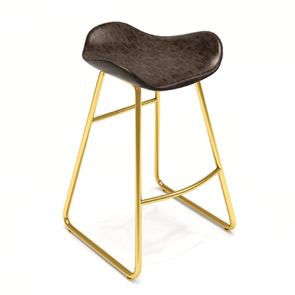 Brown 65cm Garden Chair Iron Bar Stool Contemporary and Contracted, seat Height Choice of Colours gold,Brown,65cm
