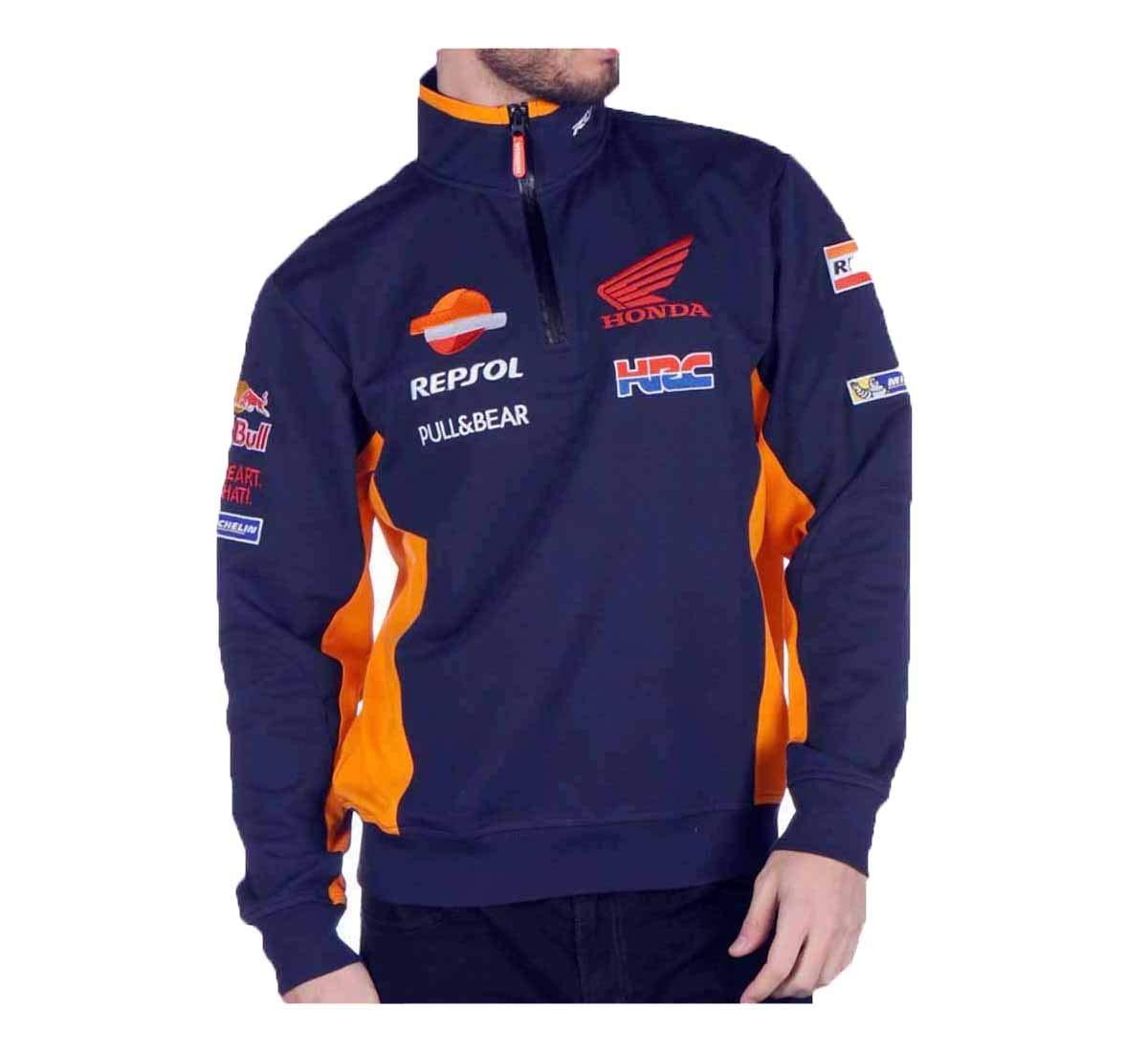 HONDA Repsol Moto GP Teamwear Replica Azul Sweatshirt Oficial Nuovo: Amazon.es: Coche y moto