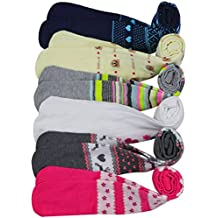 ToBeInStyle Girl's Pack of 6 Assorted Design Winter Tights