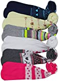 ToBeInStyle Girl's Pack of 6 Assorted Design Winter Tights (Small, Assorted)