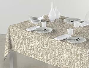 Sabanalia - Mantel de tela antimanchas Arte (disponible en varias medidas) - 140 x 200