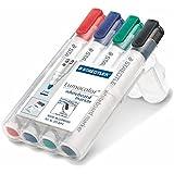 STAEDTLER LumoColor - Paquete de 4 rotuladores para pizarra