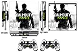 Cod Mw Q Skin Sticker PS3 PlayStation 3 Slim and 2 Controller Skins