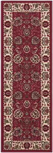 Ottomanson Ottohome Collection Traditional Persian Oriental Floral Design Non-Skid Rubber Backing Area Rug Hallway Runner, 2'7