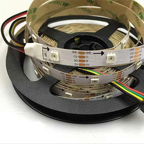 BGFHDSD APA102 Full Magic Color Addressable Led Strip Light 5M 30LED/M DC 5V IP20 LED Programmable LED Strips Project Lights Black PCB by BGFHDSD (Image #4)