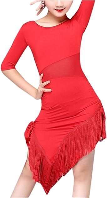 Vestido de Baile Latino para Niñas - Disfraces Falda de Leotardo ...