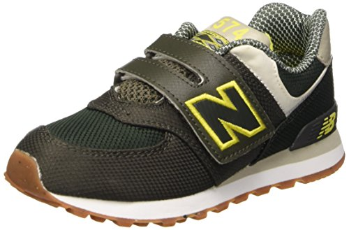 New Balance KV574E8Y - Zapatos Unisex Niños Verde (Green Yellow)