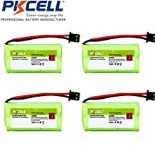 4 Pack BT-1008 BT-1021 BT-1025 BT-1016 Cordless Phone Replacement Batteries 2.4v AAA 800mah Nimh Plug Type MITSUMI-2R