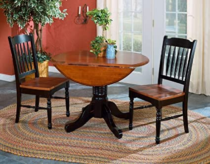 A America British Isles Round Double Drop Leaf Dining Table, 42u0026quot;,