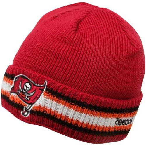 NFL Reebok Tampa Bay Buccaneers Red Coaches Elite Cuffed Knit (Reebok Nfl Tampa Bay)