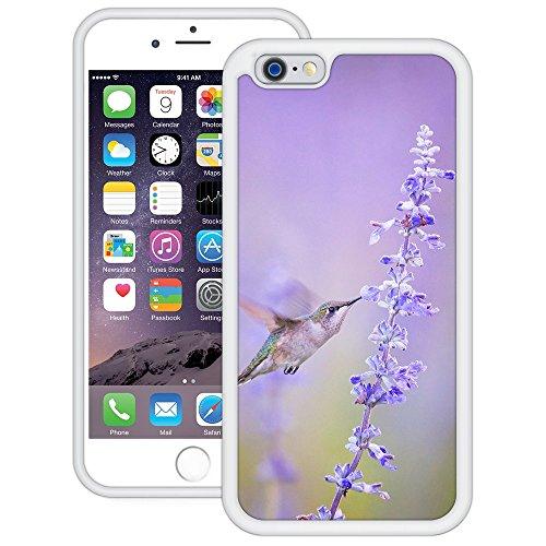 Vogel-Blumen | Handgefertigt | iPhone 6 6s (4,7') | Weiß Hülle