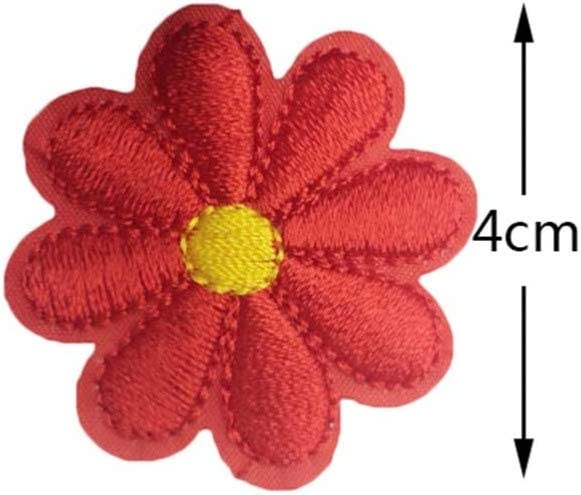 SUPVOX 26PCS Flower Embroidery Applique Daisy DIY Patches Decor for Children Crafts Jackets Clothing Jeans Bags