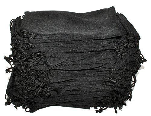 Wholesale Glasses Pouches Cleaning Case Bag Black 100 PCS