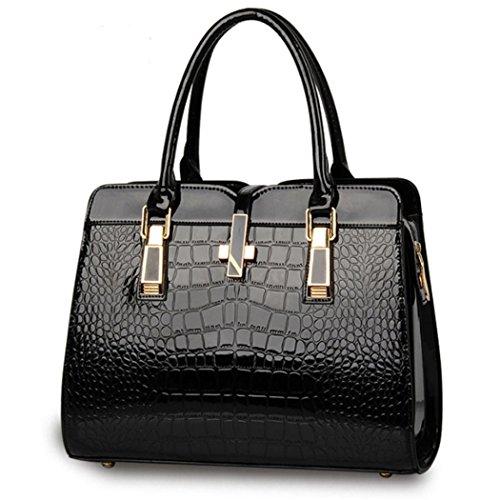 Shopper Leather Satchel Fashion Hobo New Lady Women Bag Purse Faux Handbag Tote Black BOn8qnS6w