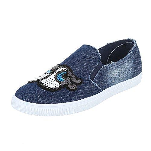 Ital-Design - Zapatillas de casa Mujer Blau FC-V205