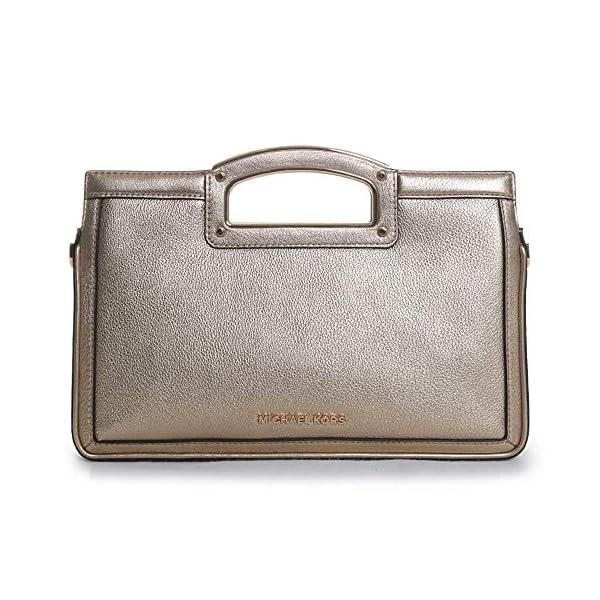 MICHAEL Michael Kors Berkley Legacy Large Clutch Silver One Size 2