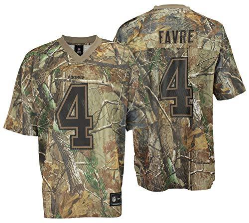 - Minnesota Vikings Brett Favre #4 NFL Mens Real Tree Camo Jersey, Camo Brown (Large)