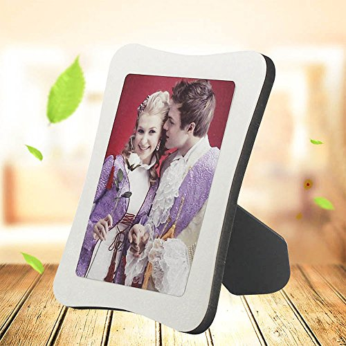Personalized Wood Photo Plaque Desktop Picture Frames w/Holder Photo Custom Birthday/Baby Birth/Valentine's Day/Christmas Gift