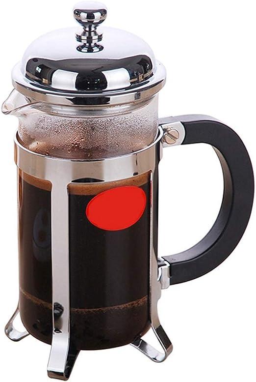 Cafetera Acero Inoxidable Máquina de café doméstica Tetera Puño de Mano Taza de Filtro de café Plata 2 Tamaño Opcional XMJ (Size : 12 * 17.5 * 20.5cm): Amazon.es: Hogar