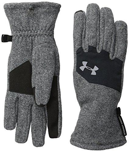 Under Armour Survivor Fleece Glove (Youth) Black (001)/Steel Small
