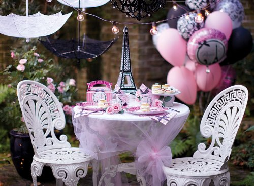 Paris Damask Basic Party Pack (Paris Eiffel Tower Damask Party Supplies - Basic Party Pack for 16)