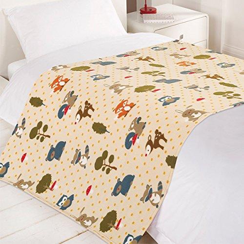 Dreamscene Woodland Fox Fleece Blanket, Multi, 120 x 150 Centimetre