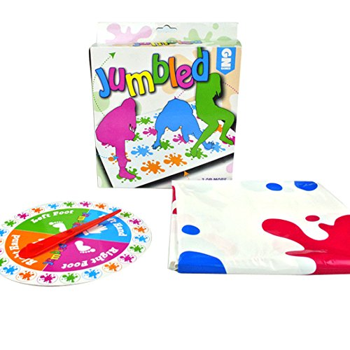 YAOSEN Fun Classic Twister Game Get Knotted Floor Board Game (Spot)