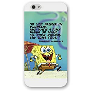 UniqueBox Customized White Frosted SpongeBob SquarePants Patrick Star iPhone 6+ Plus 5.5 Case, Only fit iPhone 6+ 5.5""
