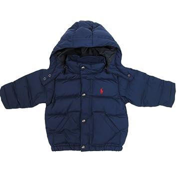 bb50f3009 Ralph Lauren Baby Boy Down Anorak Jacket with Hood dark blue: Amazon.co.uk:  Baby