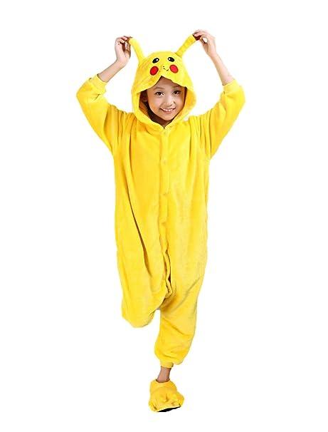 Auspicious beginning Pikachu niños Pijama Animal de Cosplay de Onesie  Sleepsuit Ropa de Dormir Ropa de 1dd44e37f858