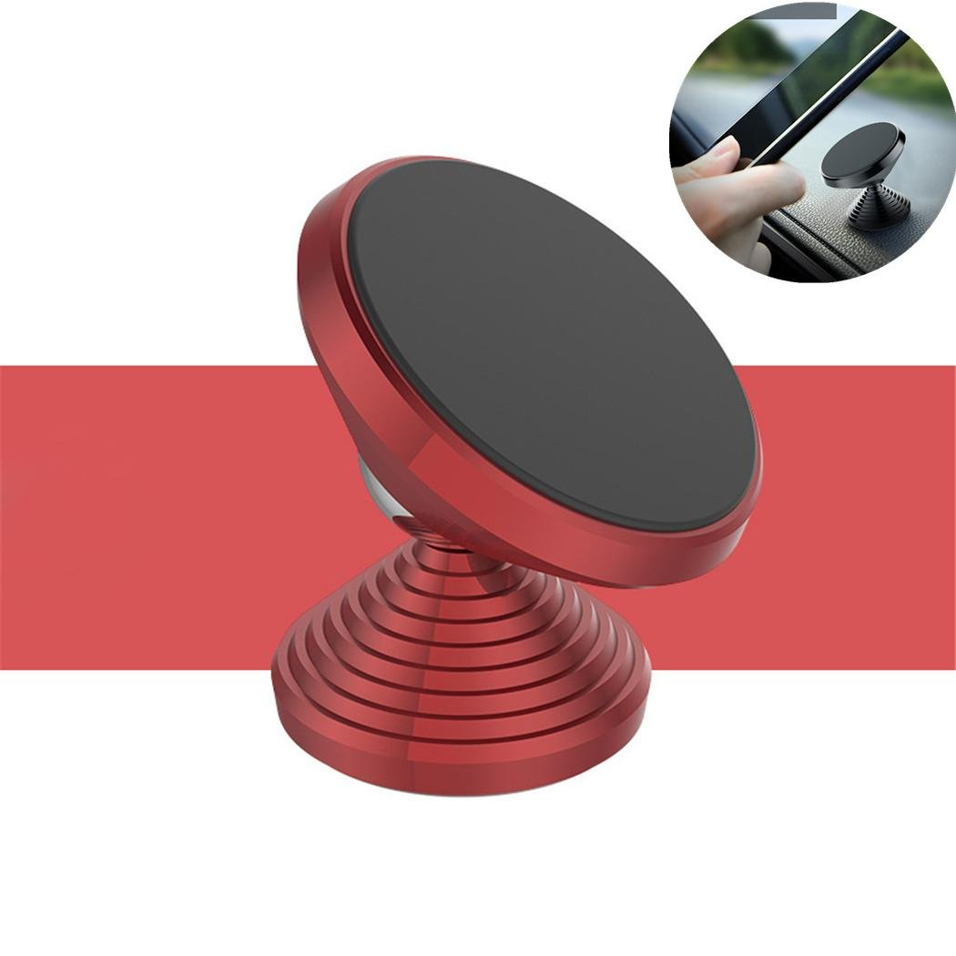 Car Magnetic Phone Holder Cell Phone Mount Cradle Dumbbell Shape SUV Dashboard Mobile Bracket For Auto Truck Home Office For X 8 7 6s 6 Plus S8 , Grey Zcar