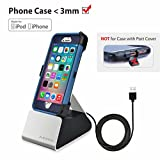 Avantree iPhone Charger Stand with Apple Mfi Lightning Cable, USB Sync & Charger Dock Docking Station Cradle for iPhone X, iPhone 8, 7, 7 Plus, 6 [2 Year Warranty]