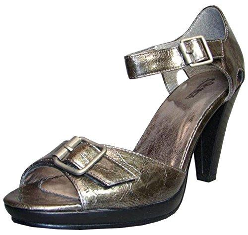 Donna Walk Metallic Sandali Metallic Grigio Grau City grau w6HnZfqfEx