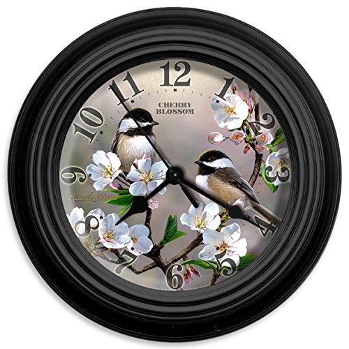 Reflective Art Cherry Blossom Wall Clock, (Blossom Clock)