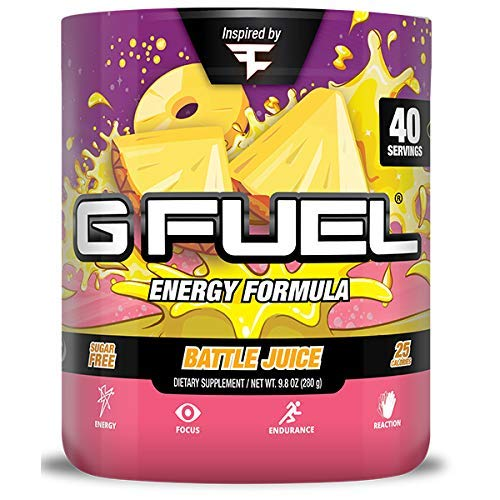 G Fuel Faze Battle Juice Tub (40 Servings) Elite Energy and Endurance Formula Inspired by Faze Clan by G Fuel