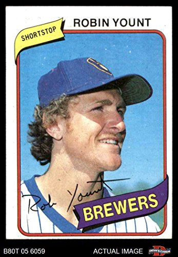 1980 Topps # 265 Robin Yount Milwaukee Brewers (Baseball Card) Dean's Cards 6 - EX/MT Brewers