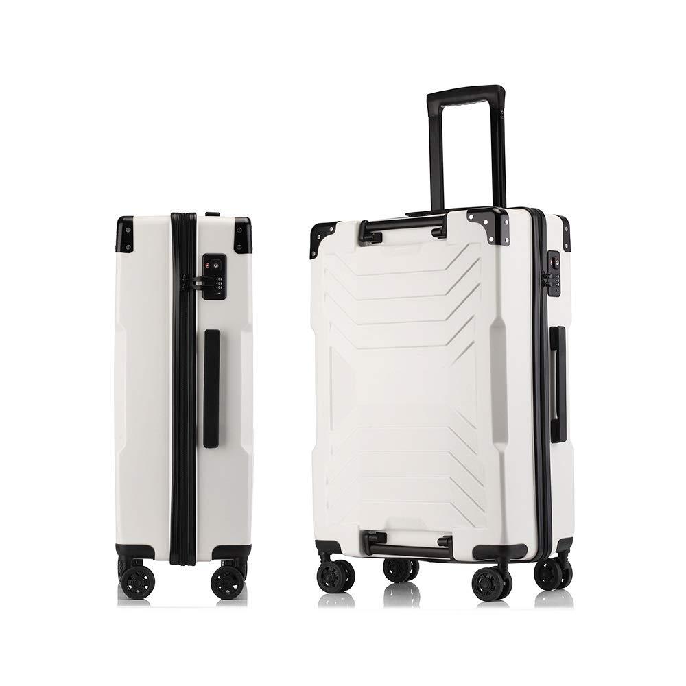 MinMin トロリーケースユニバーサルホイールファッションスーツケース学生パスワード搭乗できる李ボックス、70センチ×47センチ×26センチ、ブラック、ホワイト、シルバー、イエロー、グリーン 旅行スーツケース (Color : E) B07V2XH2LL E